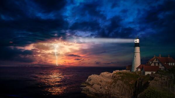 lighthouse and storm image-4241186_1920